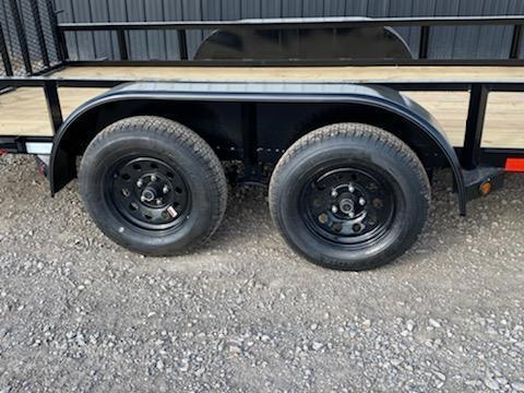 "New Longhorn Trailers 77""X14' Tandem Axle Utility Trailer 3500# Axles"