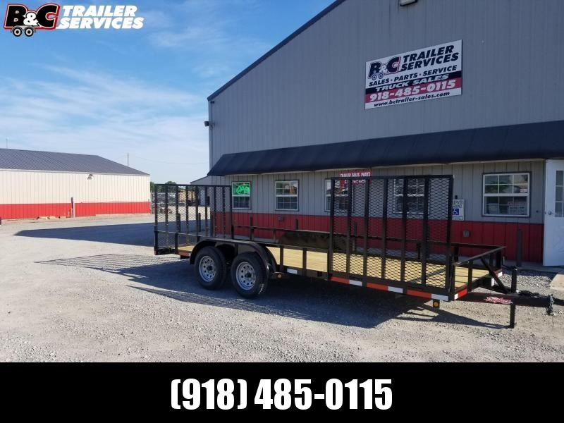 2020 Longhorn Trailers 83X20 TANDEM AXLE UTILTY TRAILER Utility Trailer W\ SIDE GATE