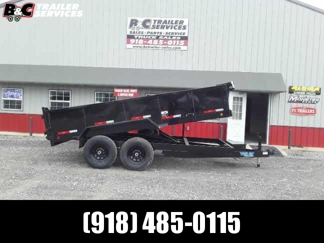 2020 Top Hat Trailers NEW 2020 7X16 LoPro DUMP TRAILER W\ TARP Equipment Trailer