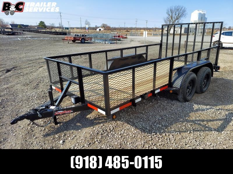"Longhorn Trailers 77""X14' Tandem Axle Utility Trailer 3500# Axles"