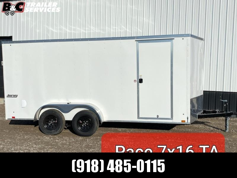 NEW 2021 PACE AMERICAN 7X16 + V NOSE ENCLOSED CARGO TRAILER