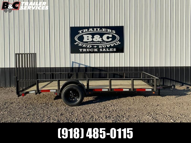 Longhorn Trailers 77X12 W\ 2' DOVE TAIL and 3' GATE