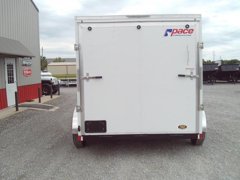 2021 Pace American NEW 2021 PACE 7X12  V NOSE ENCLOSED CARGO TRAILER Enclosed Cargo Trailer