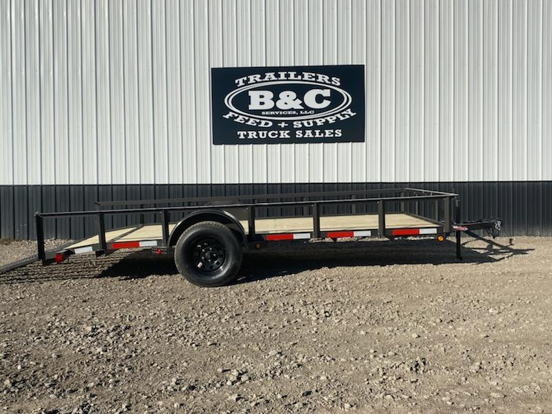 New 2020 Longhorn Trailers 77 X14 Utility Trailer w 2' dove & 3' gate