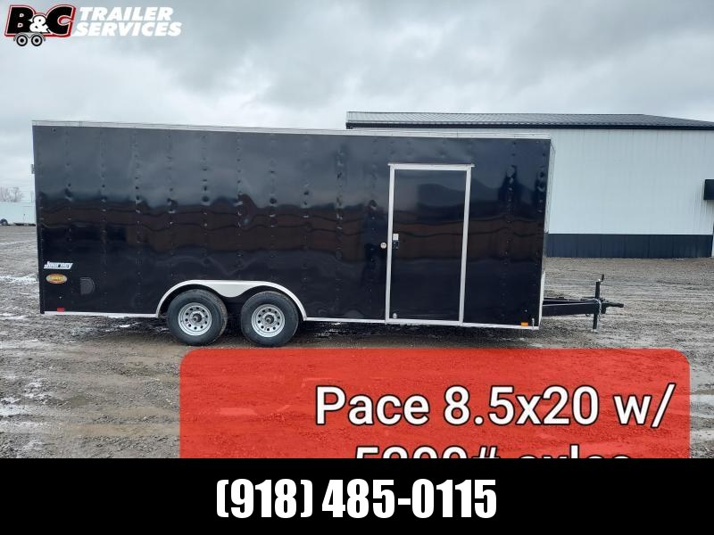 2022 Pace American NEW 2021 8.5X20 + V NOSE ENCLOSED TRAILER Car / Racing Trailer