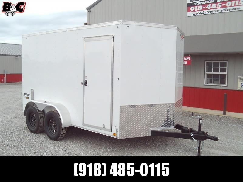 2021 Pace American NEW 2021 PACE 7X12 +V NOSE WITH BARN REAR DOORS