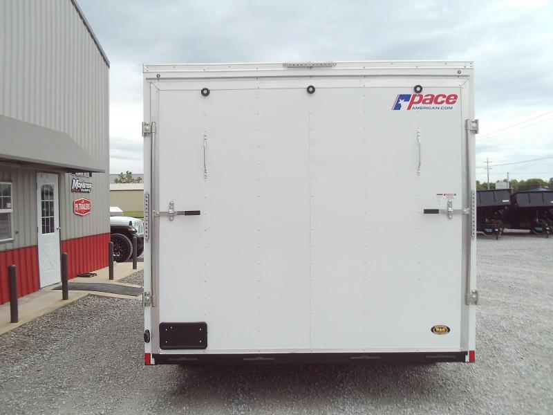 2021 Pace American NEW 2021 8.5X16 + V NOSE ENCLOSED TRAILER Enclosed Cargo Trailer