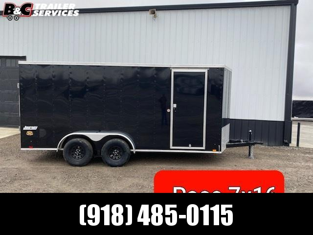 2021 PACE AMERICAN  7X16 + V NOSE Enclosed Cargo Trailer