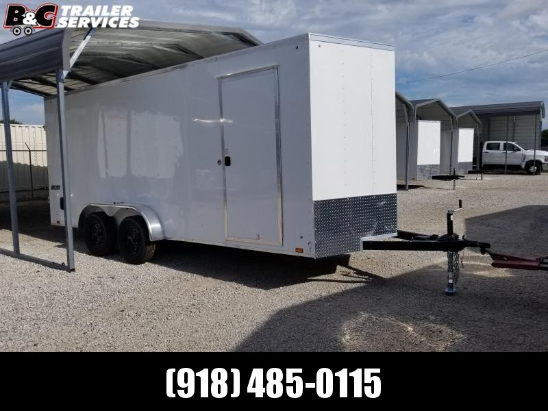 2021 PACE AMERICAN 5200# AXLES 7X20 V NOSE Enclosed Cargo Trailer