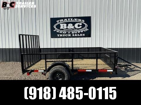 New Longhorn 77 X12 Utility Trailer w\ 4' Gate and 2' mesh sides
