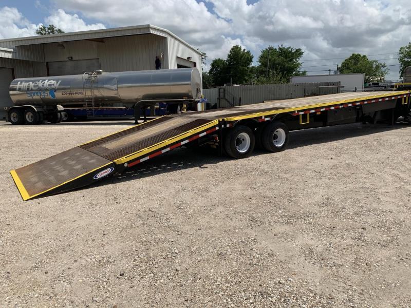 2012 Ledwell Hydraulic Tail Equipment Trailer Low Boy