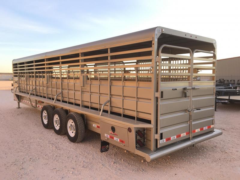 "2022 GR Trailers 6'8""X32' 20K Livestock Trailer"
