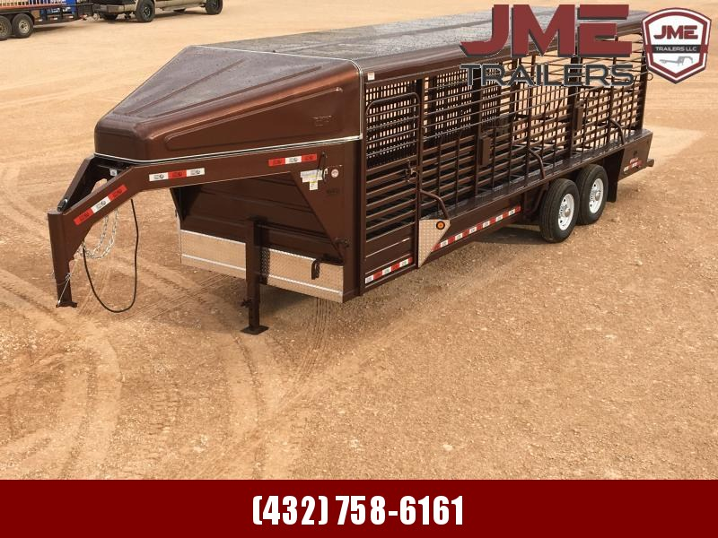 "2020 GR Trailers 6'8""X24' Stock / Stock Combo Trailer"