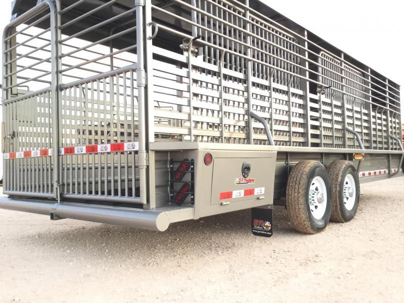 "2022 GR Trailers 6'8""X24' 14K Livestock Trailer"