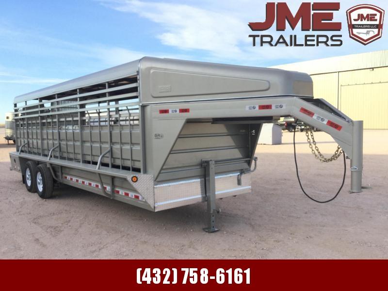 "2021 GR Trailers 6'8""X24' 14K Livestock Trailer"