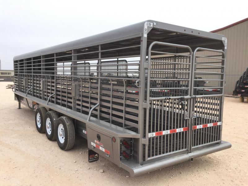 "2021 GR Trailers 6'8""X32' 21K Livestock Trailer"