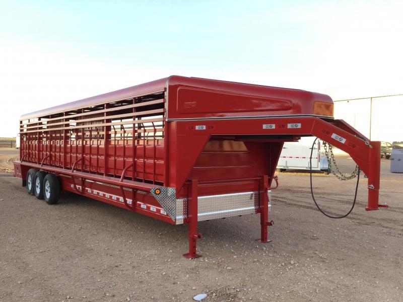 "2021 GR Trailers 6'8""X32' 20K Livestock Trailer"