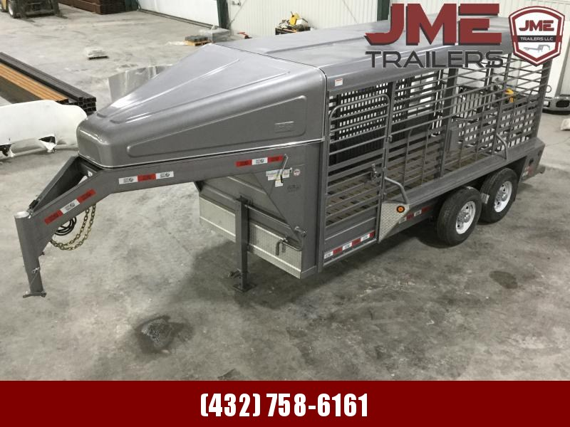 2020 GR Trailers 6'X16' Stock / Stock Combo Trailer