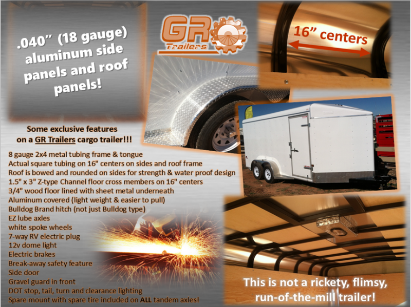 2022 GR Trailers 6'X10' 3.5K Enclosed Cargo Trailer