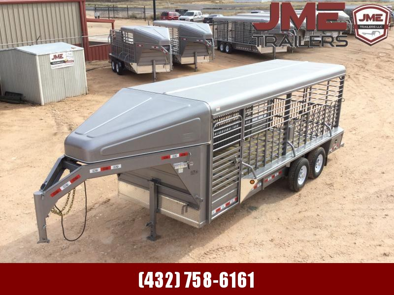 2020 GR Trailers 6'8 x 20' Stock / Stock Combo Trailer