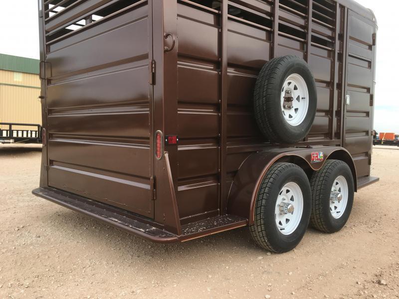"2021 GR Trailers 6'8""X14' 7K Horse Trailer"