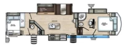 2022 Forest River Sierra 3440BH Bunkhouse Fifth Wheel Campers