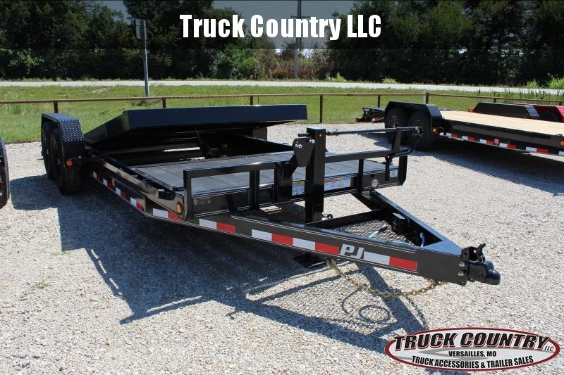 2021 PJ Trailers T6 20' BP tilt Equipment Trailer