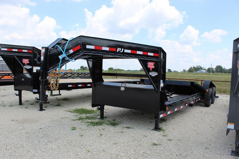2022 PJ Trailers TJ 24' gooseneck tilt Equipment Trailer