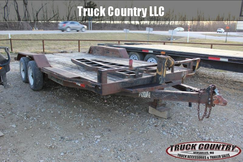 1996 Trailerman Trailers Inc. 18' carhauler Car / Racing Trailer