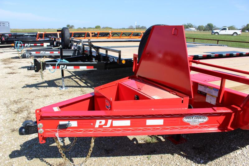 "2022 PJ Trailers 102"" x 24' Deckover Tilt (T8) Equipment Trailer"