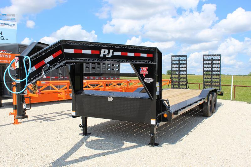 2022 PJ Trailers H6 24' equipment gooseneck Equipment Trailer