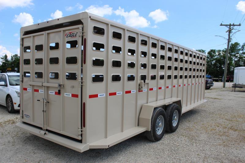 2021 Maxxim Industries Eagle 6.8x24 gooseneck Livestock Trailer