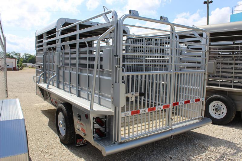 2020 GR Trailers 6.8x16 Half-Top Livestock Trailer