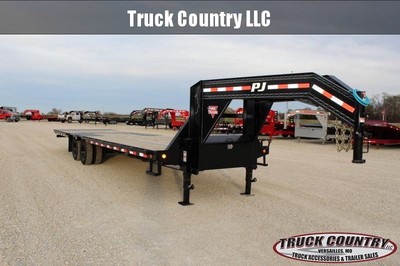 2021 PJ Trailers LY gooseneck hydraulic dovetail Flatbed Trailer