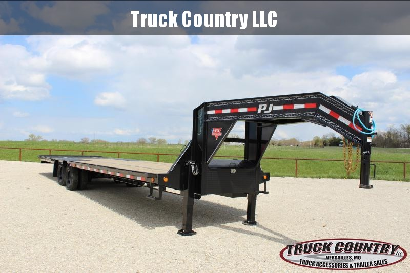 2021 PJ Trailers LY 34' Hydraulic dovetail Flatbed Trailer
