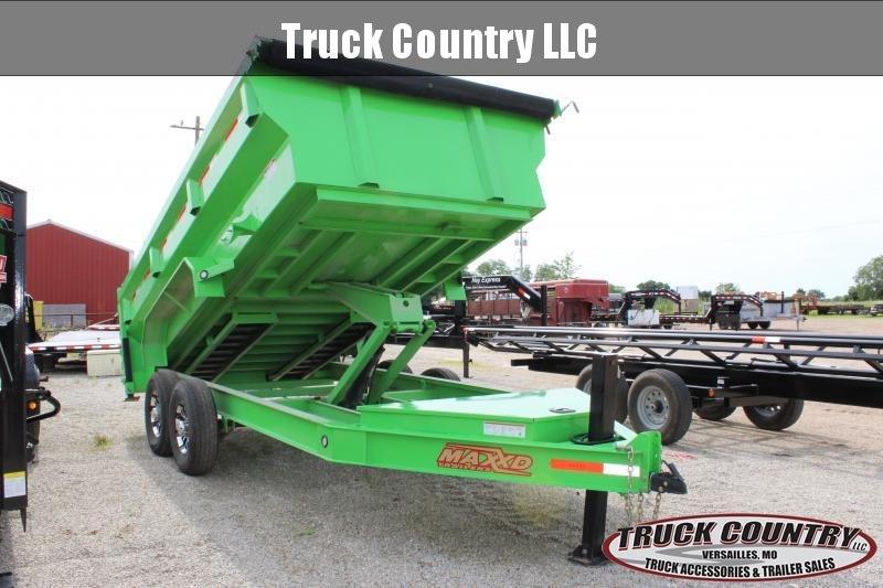 2020 MAXXD 14' dump trailer  w/ flare sides