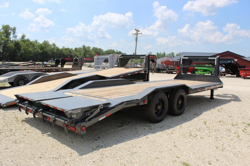 2022 PJ Trailers H7 24' gooseneck superwide Equipment Trailer