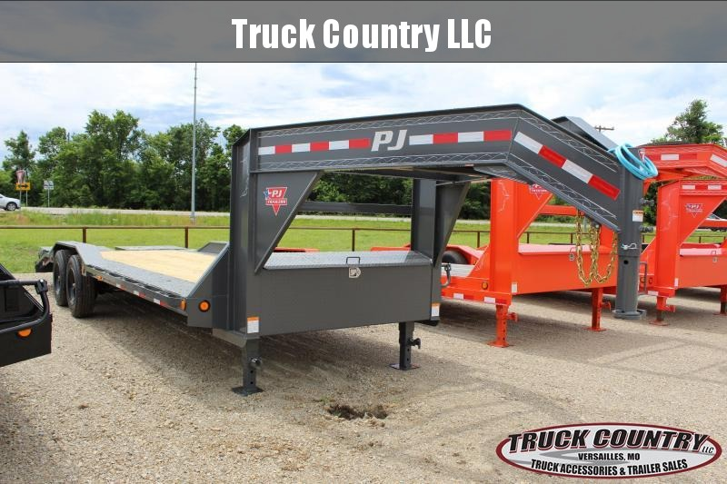 "2021 PJ Trailers H7 102""x24' gooseneck superwide Equipment Trailer"