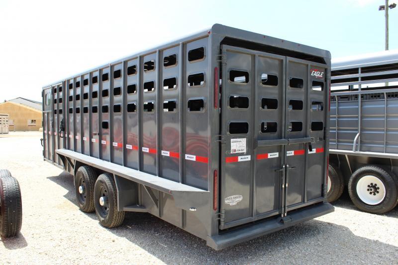 2021 Maxxim Industries Eagle 6.8x24 Livestock Trailer