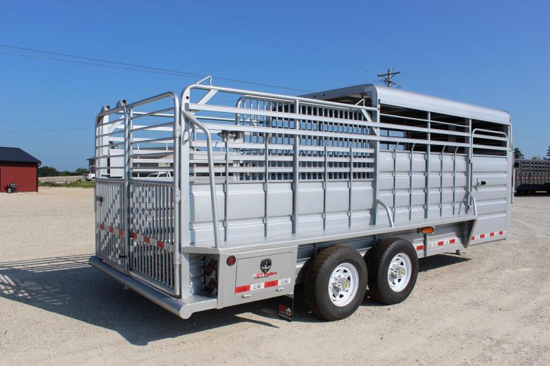 2021 GR Trailers 6.8x20 Half-Top gooseneck Livestock Trailer