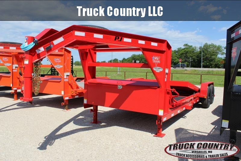 2021 PJ Trailers T6 22' gooseneck tilt Equipment Trailer