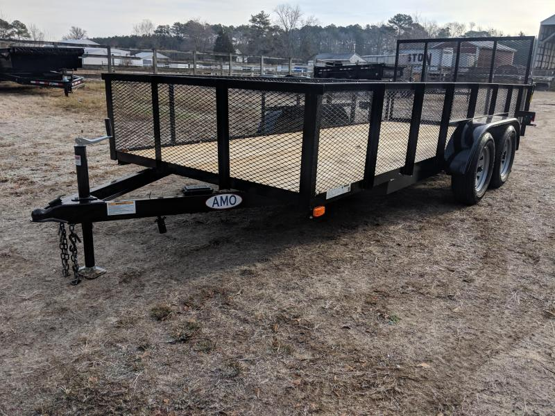 2020 American Manufacturing Operations (AMO) 76X16 HIGHSIDES Utility Trailer
