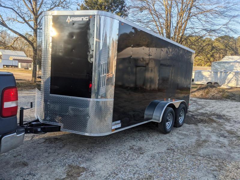 2021 Arising 7x14 black Enclosed Cargo Trailer