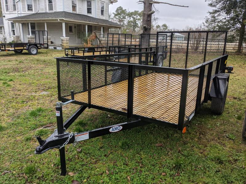 2021 American Manufacturing Operations (AMO) 76X12 MESH SIDES Utility Trailer
