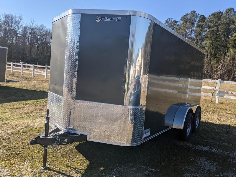 2021 Arising 7x14 charcoal 7K Enclosed Cargo Trailer