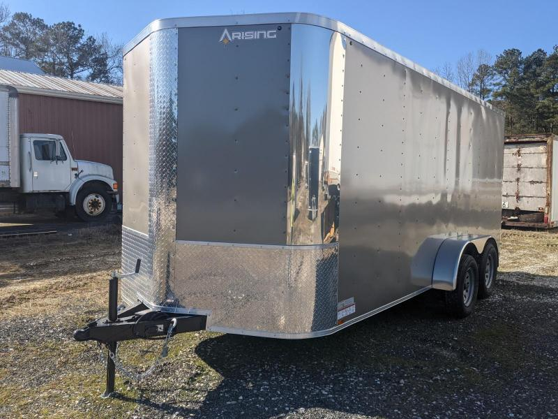 "2021 Arising 7X16 PEWTER 7K 6"" UP Enclosed Cargo Trailer"