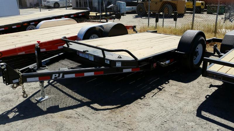 2021 PJ Trailers Single Axle HD Tilt (T1) Equipment Trailer