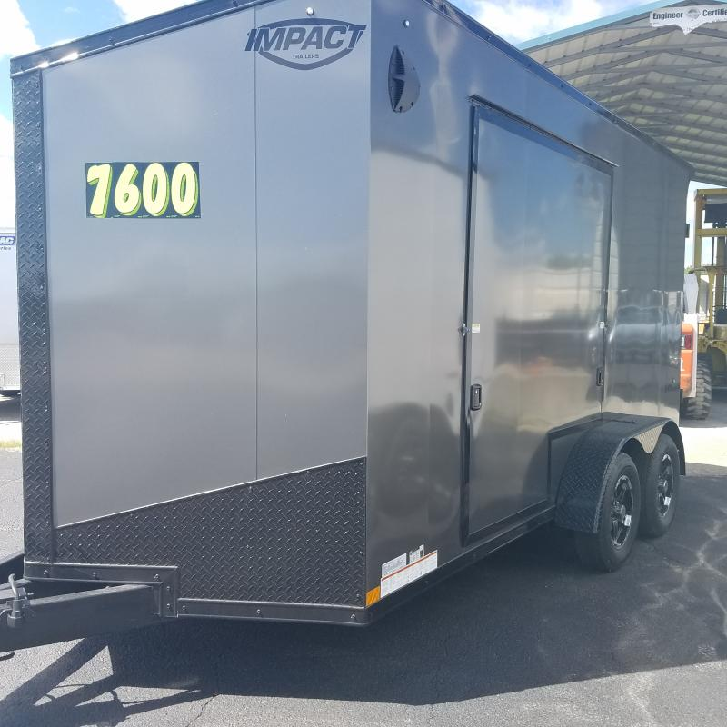 2021 Impact Trailers Shockwave B/o Slope V-nose Cargo / Enclosed Trailer