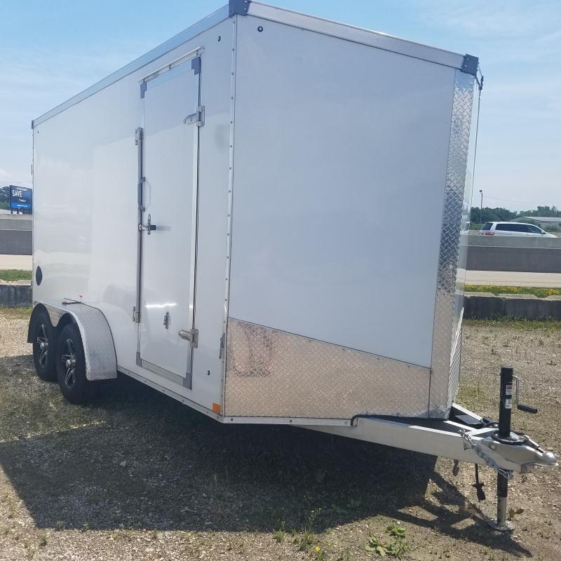 2021 Used Qualitec 7x14 Alum Enclosed Cargo Trailer
