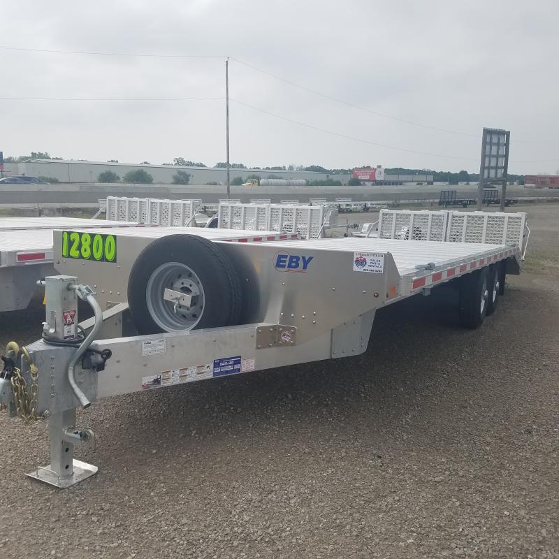 2021 EBY8.5 x 24.6 Deckover Aluminum Equipment Trailer
